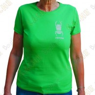 "T-Shirt ""Travel Bug"" Trackable Femme - Vert"