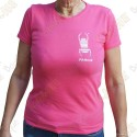 "T-Shirt ""Travel Bug"" Trackable Femme - Rose"