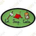 Geocaching patch - Eat - Sleep - Cache