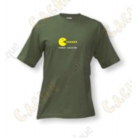 "T-Shirt ""Power caching"" Homens - Caqui"
