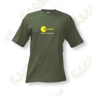 "T-Shirt ""Power caching"" Homme - Kaki"
