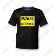 "T-Shirt ""Caution"" Homens - Negro"