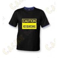 """T-Shirt """"Caution"""" Criança - Negro"""