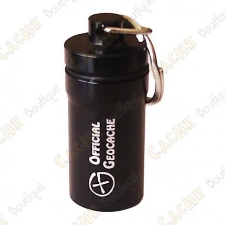 """Micro cache """"Official Geocache"""" 5,2 cm - Negro"""