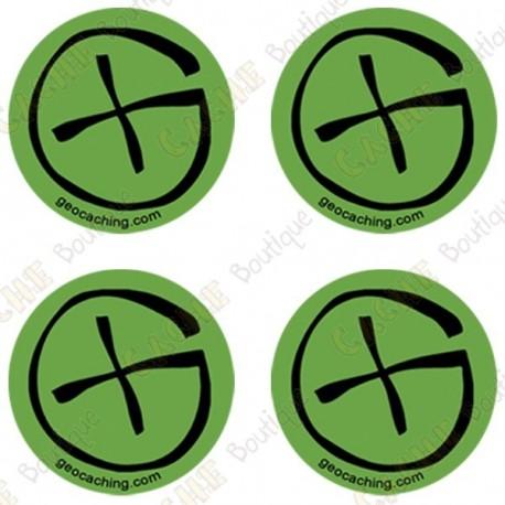"Sticker Geo ""Round Small"" - Lot de 4"
