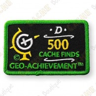 Geo Achievement® 500 Finds - Parche