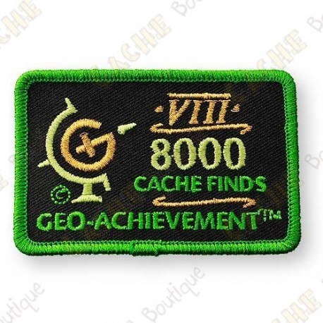 Geo Achievement® 8000 Finds - Patch