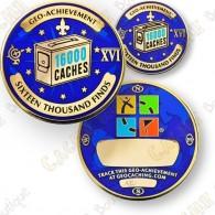 Geo Achievement® 16 000 Finds - Coin + Pin's