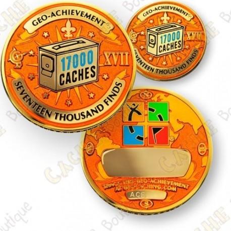 Geo Achievement® 17 000 Finds - Coin + Pin
