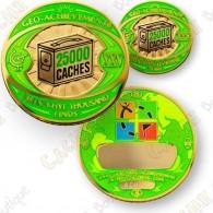 Geo Achievement® 25 000 Finds - Coin + Pin's
