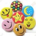 "Badge ""Smiley & co"" X 10"