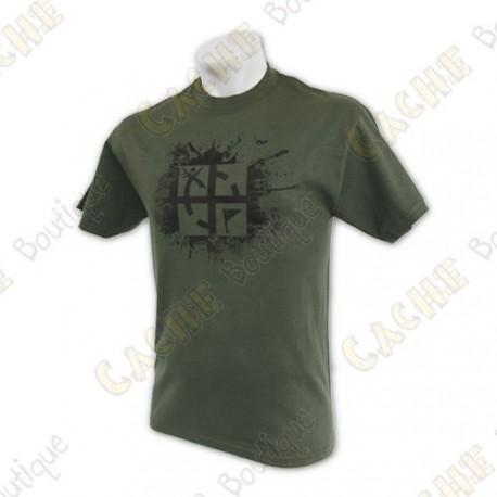 """Camiseta """"Cache Attack"""" caqui"""