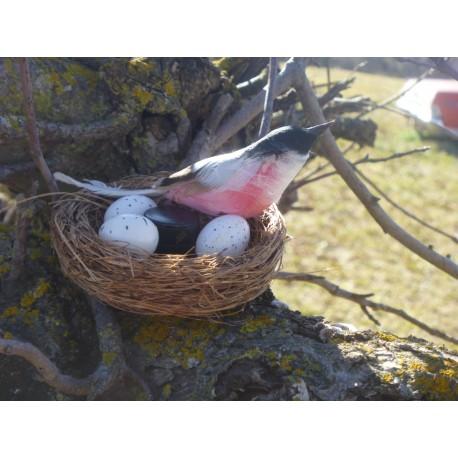 """Cache """"Bestiole aimantée"""" - Oiseau dans son nid"""