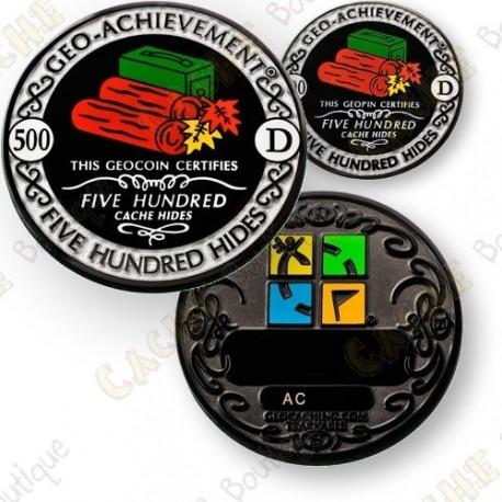Geo Achievement® 500 Hides - Coin + Pin