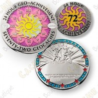 Geo Achievement® 24 Hours 72 Caches - Coin + Pin's
