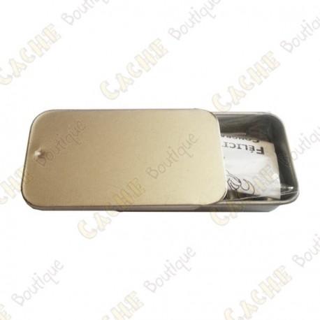 """Cache """"Tin"""" magnético - Micro rectángulo"""