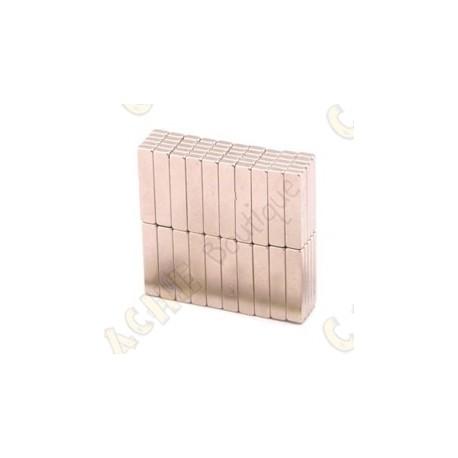 Ímanes neodimios 20x4x2mm - Conjunto de 5
