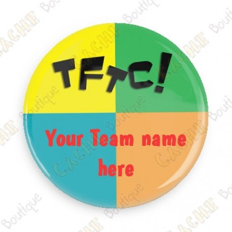 Badge Team Name x 100 - Personnalisable - Cache Boutique