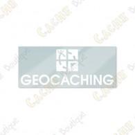 Logo géocaching Groundspeak à placer à l'intérieur de votre véhicule pour qu'il soit visible de l'extérieur.