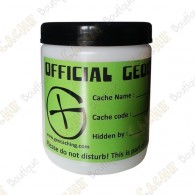 "White  ""Official Geocache"" can - 750ml"