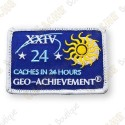 Geo Achievement® 24 Hours 24 Caches - Patch