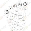 Micro replacement logroll Rite in the rain® - White