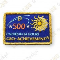 Geo Achievement® 24 Hours 500 Caches - Parche