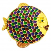 "Géocoin ""Rainbow Fish"" - Grape Gold LE"