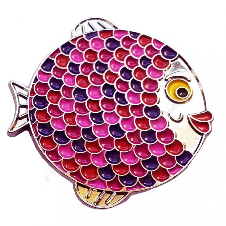 "Géocoin ""Rainbow Fish"" - Girly Silver LE"