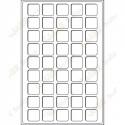 Geocoin tray L 31 x 31 mm - 45 fields