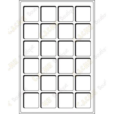 Plateau L pour géocoins 47 x 47 mm - 24 cases