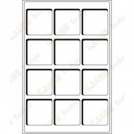 Bandeja L para geocoins 66 x 66 mm - 12 caixas