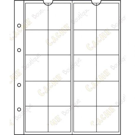 Pocket sheet for NUMIS album - 34 mm