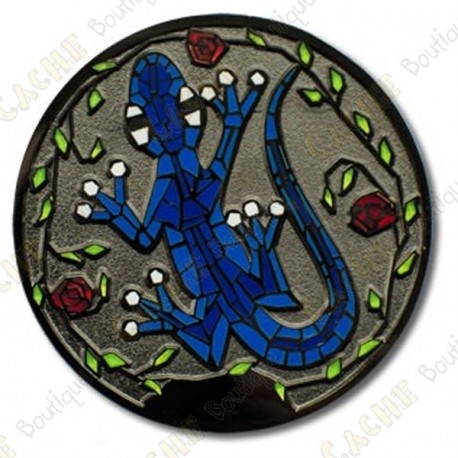 "Geocoin ""Gecko"" - Azul Glow in the dark"