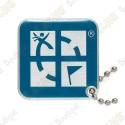 Traveler Logo Geocaching - Bleu