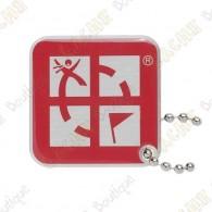 Geocaching logo travel tag - Red