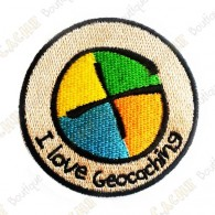 "Patch ""I love Geocaching"" rond"