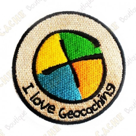 "Patch ""I love Geocaching"""