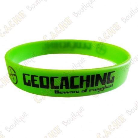 Geocaching silicone wristband - Green
