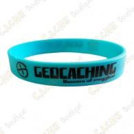 Bracelet silicone Geocaching - Bleu