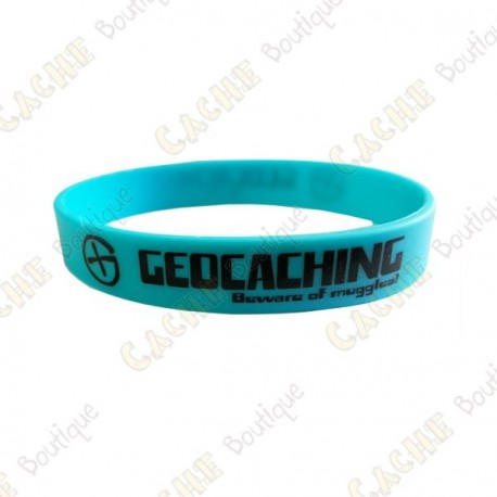 Geocaching silicone wristband for kids - Blue