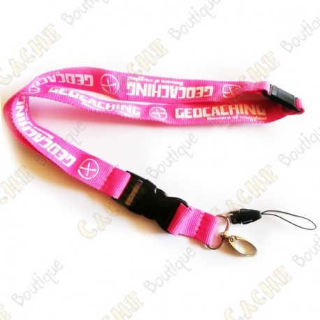 Lanyard Geocaching - Rose