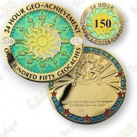 Geo Achievement® 24 Hours 150 Caches - Coin + Pin's