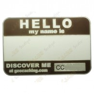 Name tag trackable - Marron