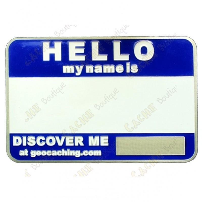 Name tag trackable - Blue - Cache Boutique