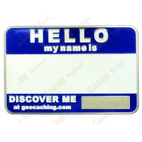 Name tag sans code - Bleu