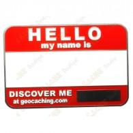 Name tag sans code - Rouge