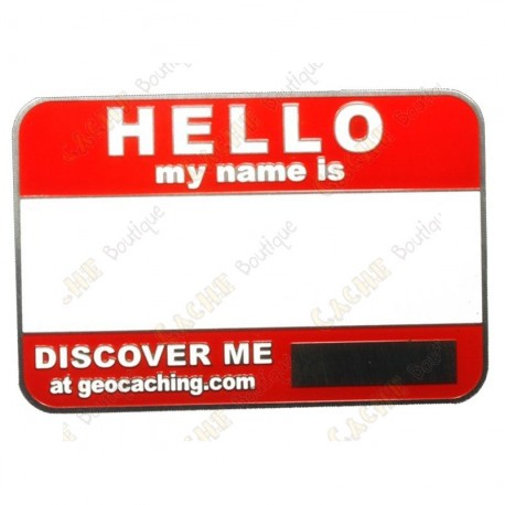 Name tag blank - Rojo