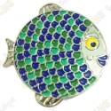 """Géocoin """"Rainbow Fish"""" V2 - Groundspeak Blue"""