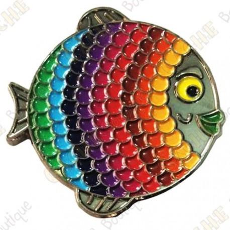 "Géocoin ""Rainbow Fish"" V2 - Spectrum Black Nickel LE"
